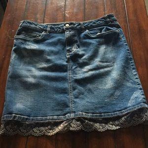 Life is Good denim skirt